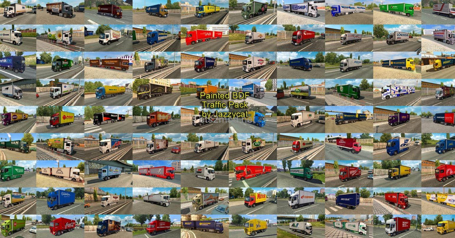 painted-bdf-traffic-pack-by-jazzycat-v10-7-ets2-mod
